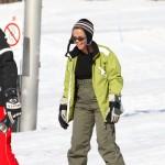 Mimi beim Skifahren